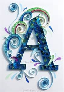 365 best images about quilling monogram name letter on