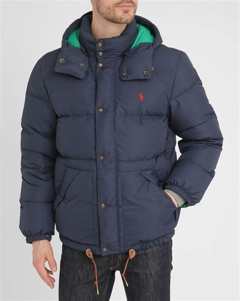 Jaket Parka Tipe A Polos Navy polo ralph navy retro jacket in blue for navy lyst