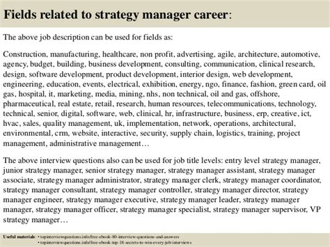 Manager Questions And Answers by Top 10 Strategy Manager Questions And Answers