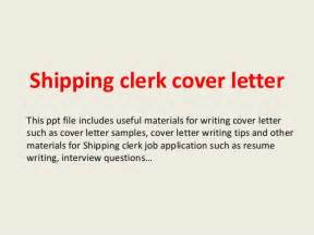 Ship Cover Letter by Shipping Clerk Cover Letter