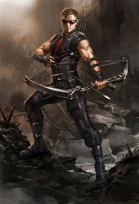 film marvel hawkeye the avengers concept art by artist andy park collider