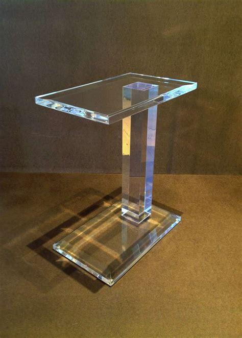 acrylic side table acrylic side table at 1stdibs