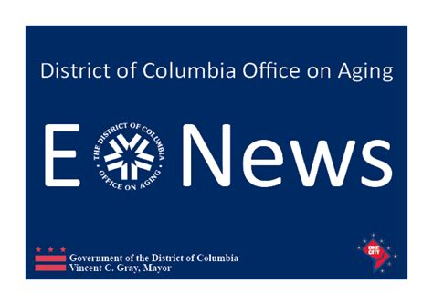 Dc Office Of Aging d c office on aging dcoa e news