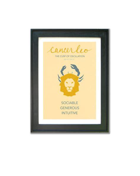 cancer leo cusp print astrological cuspian art birthday