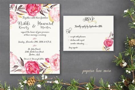 wedding invitation suite template printable classy