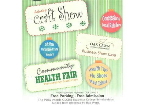 holiday craft shows in illinois oak lawn craft show and business showcase kicks oct 17 oak lawn il patch