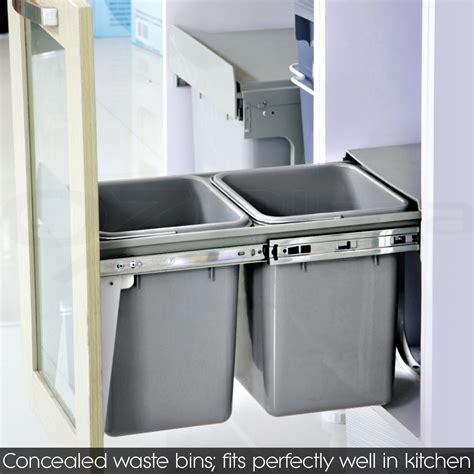 kitchen garbage wastebasket cabinet pull out waste basket pull out bin kitchen slide out garbage rubbish waste