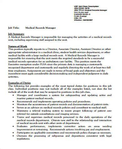 records description sle 11 exles in word pdf