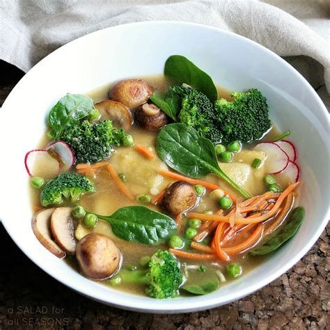 spring vegetable broth bowl