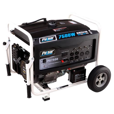 pulsar 174 gas peak 7 500 watt generator 611293 portable