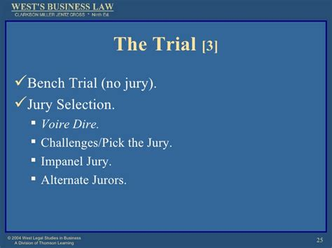 bench vs jury trial court procedures