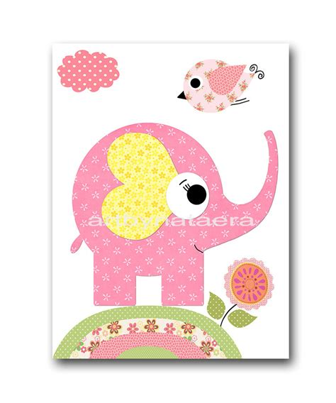 Elephant Nursery Decor Baby Girl Nursery Art Decor Nursery Nursery Decor For Baby