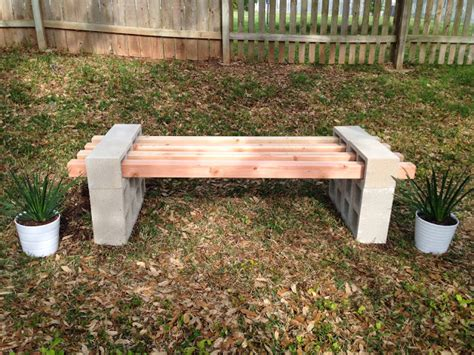 concrete block wood bench fab everyday because everyday should be fabulous
