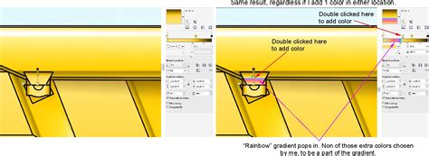 corel draw x7 yellow gradient colors change to what is not there coreldraw