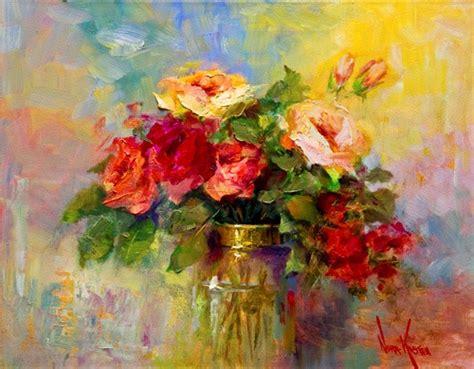 imagenes flores al oleo im 225 genes arte pinturas flores rojas oleo