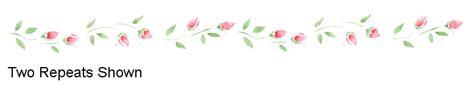 rosebud border stencil walltowallstencils