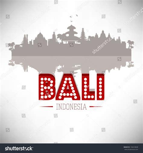 indonesia detailed skyline vector illustration stock bali indonesia skyline silhouette design vector stock