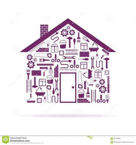 repair home on white background stock vector image 60792063