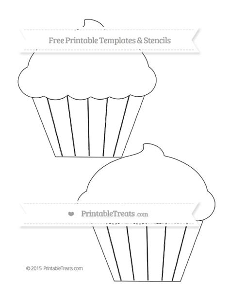 free printable large cupcake template printable treats com