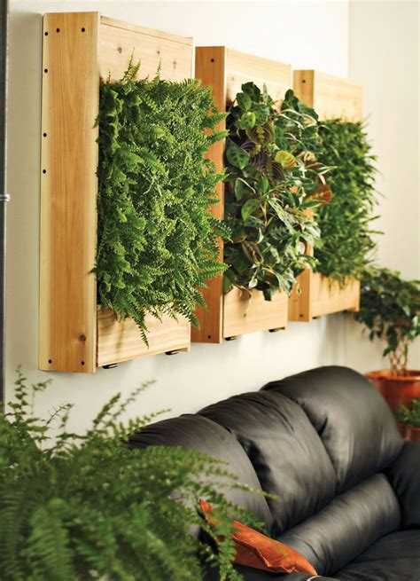 Green Wall Planters by Indoor Living Wall Planters The Green