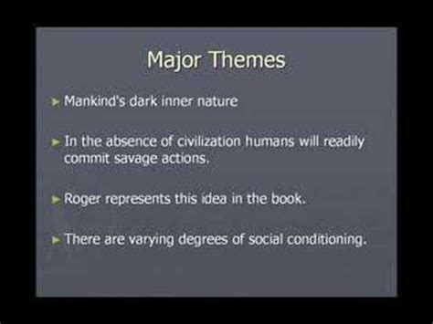 theme of darkness in lord of the flies analysis of the lord of the flies youtube