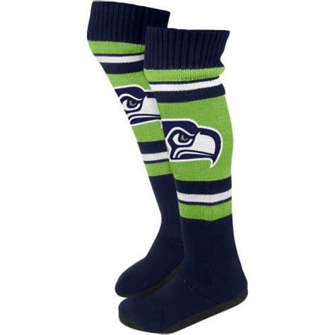 socks seattle seattle seahawks socks and slippers seattleteamgear