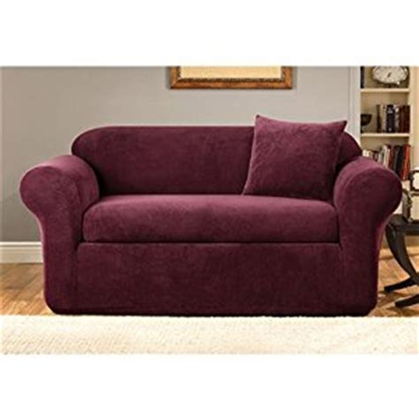 burgundy slipcovers com sure fit stretch metro 2 piece sofa slipcover