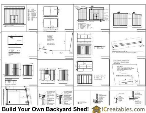 lean  shed plans  loft
