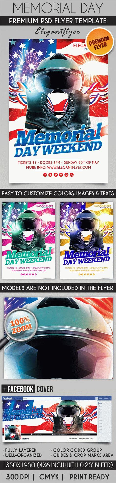Memorial Day Flyer Template By Elegantflyer Free Funeral Flyer Template Psd