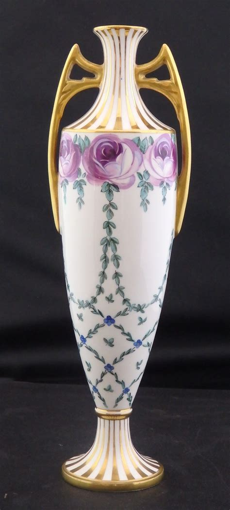 Minton Vase by Mintons Two Handled Floral Vase Australian Decorative