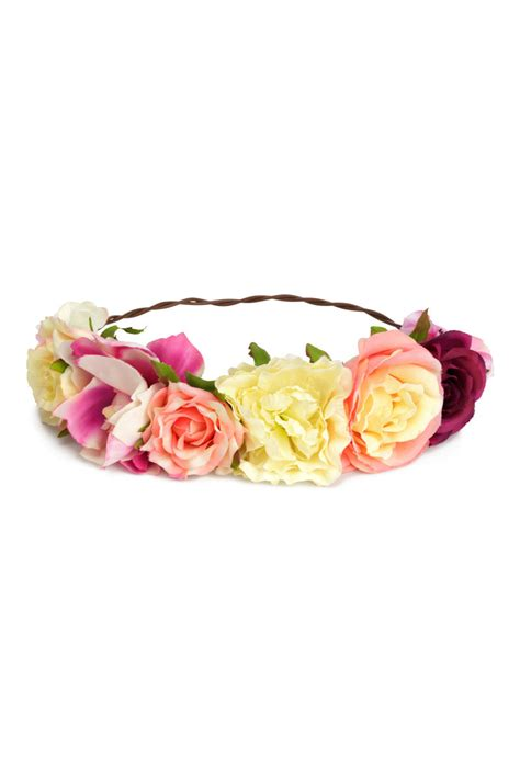 Sehm04 Set Hm Pink Flower Flower hair decoration with flowers pink sale h m us