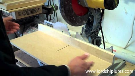 Craftman Style zero clearance chop saw youtube