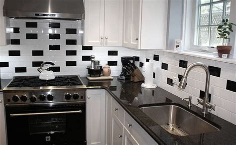 Pictures Of Subway Tile Backsplashes In Kitchen by Black And White Backsplash Tile Photos Backsplash Com