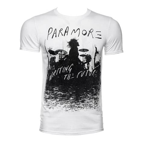 Tshirt Paramour paramore unisex future silhouette white t shirt official