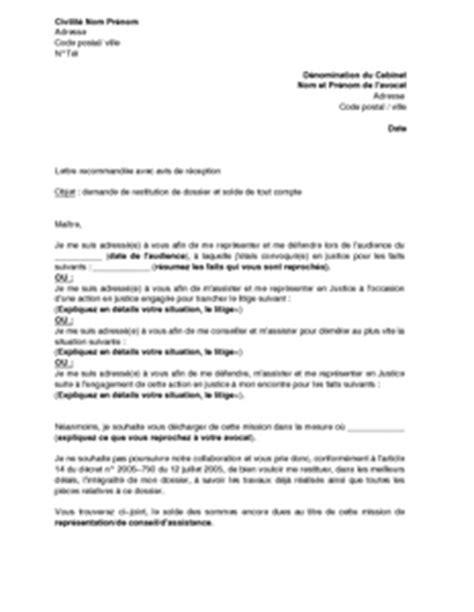 formulario lettere avvocato exemple gratuit de lettre demande restitution dossier