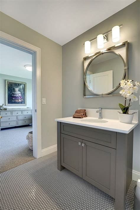Grey Bathroom Paint Colors by 17 Best Ideas About Grey Bathroom Cabinets On