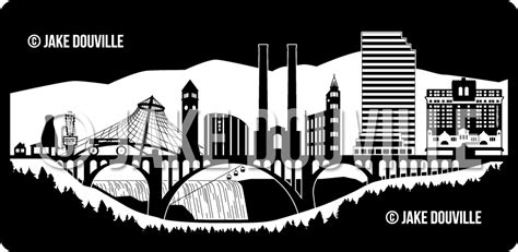 jake douville graphic logo design spokane wa