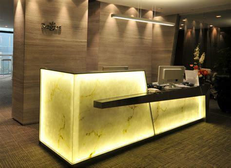 Translucent Backlit Onyx Counter Beauty Salon Curved