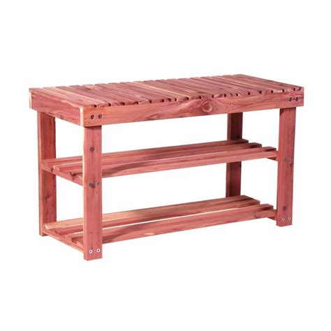 shoe store benches morestorage com cedar shoe bench 2124 1 69 49