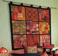Patchwork Wall Hanging - indian furnishings floor covering rugs viscose handmade