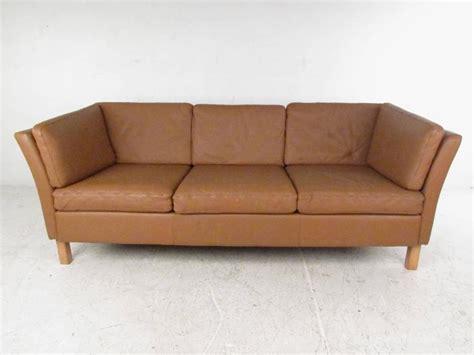 danish style leather sofa danish modern leather sofa mid century mogensen style