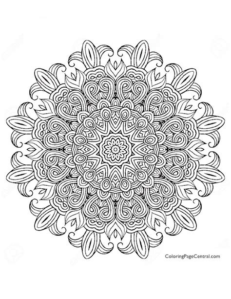 Mandala Circle 04 Coloring Page Coloring Page Central Mandala Circles Coloring Pages