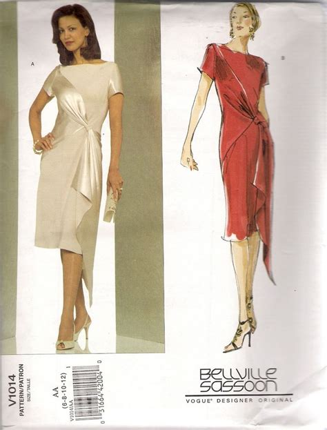 design a dress pattern vogue designer sewing pattern 1014 bellville sassoon