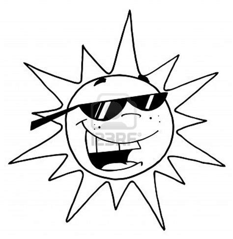 Sun Black Outline by Sun Clipart Black