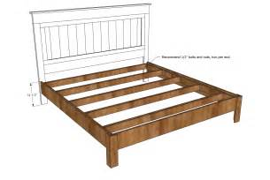 Frame For King Bed King Size Wood Bed Frame Plan And Measurement Design Idea Photo Gallery Decofurnish