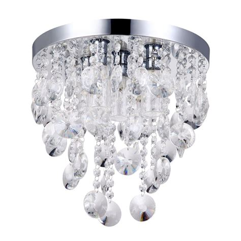 crystal bathroom ceiling light elisa 5 light crystal effect bathroom ceiling light from