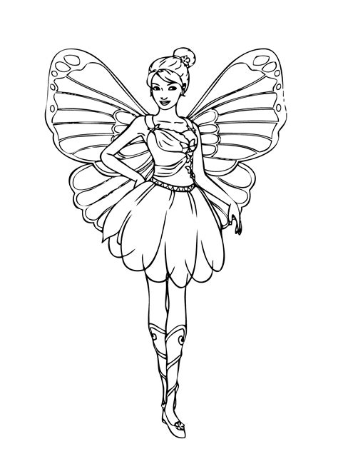 coloring pages barbie fairy barbie fairy coloring page for girls printable free