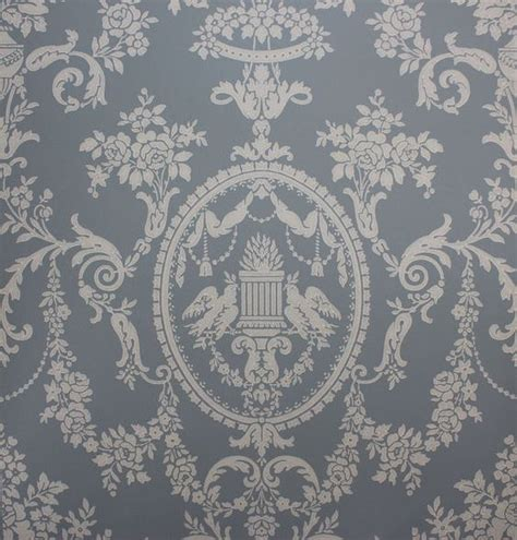classic georgian wallpaper 1920 s antique vintage wallpaper victorian blue lovebirds