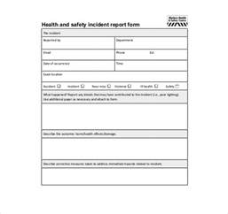 health and safety forms templates 18 incident report templates free sle exle