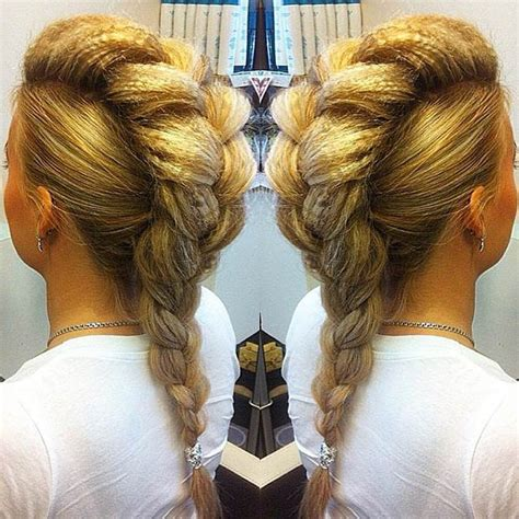 big french braids 23 faux hawk hairstyles for women braided faux hawk